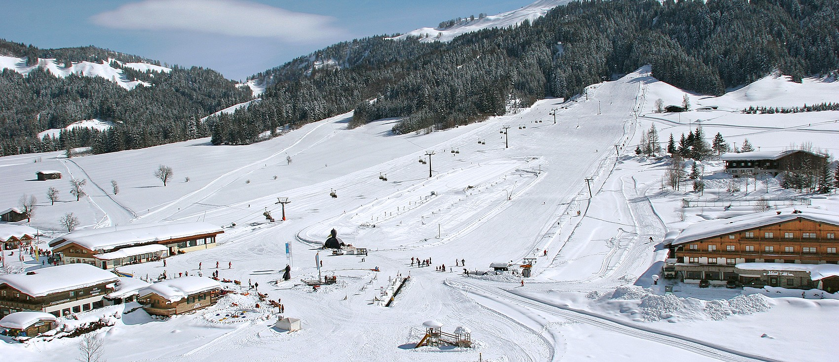 Skiing area Pillerseetal